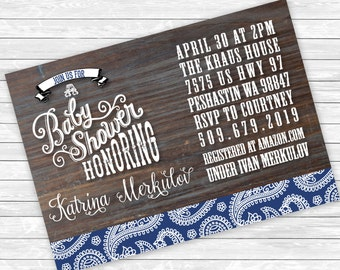 Baby Shower Invitations, Country Baby Shower Invitations, Baby Shower invitation, Western Baby Shower Invitations, Cowgirl Baby Shower