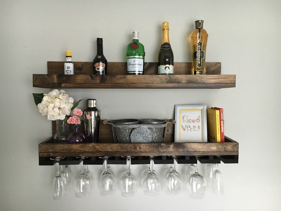 36 Long Rustic Wood Wine Rack Shelf Amp Hanging By