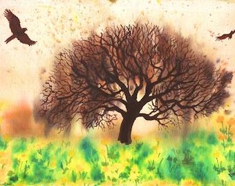Spring Tree Greetings Card