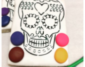 Sugar skull cookies paint your own sugar skull cookie    Day of the dead cookies