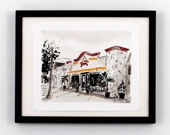 Rehoboth Beach DE Art - Dos Locos Stonegrill Print
