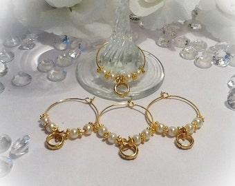 Set of 4 Wine Glass Charms