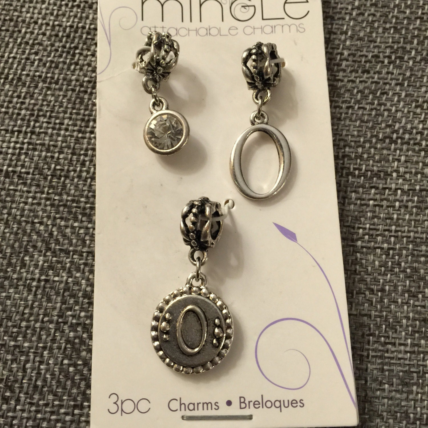mix and mingle metal charms large holed letter o from