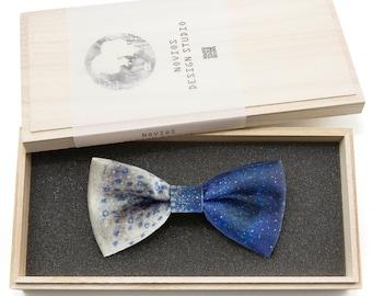 Two Side Nebula Bowtie - Modern Boys Bowtie, Toddler Bowtie Toddler Bow tie, Groomsmen bow tie, Pre Tied and Adjustable Novioshk, H0193