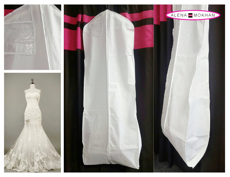 white breathable bridal wedding gown prom dress garment bag. Black Bedroom Furniture Sets. Home Design Ideas