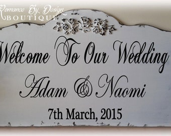 Welcome To Our Wedding Welcome Sign with Molding