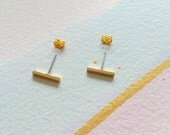 Gold Bar Earrings - Your Everday Style Jewelry. Bar Necklace also available