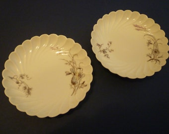 HAVILAND LIMOGES. Pair Of Small Plates. Fluted, Scalloped Haviland LIMOGES China. Set of Two. Vintage, Collectible Haviland Limoges China
