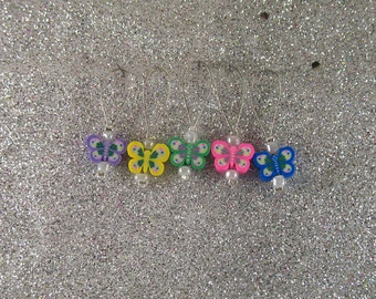 5 Butterfly Knitting Stitch Markers
