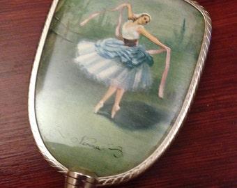 Vintage Child's Vanity Mirror: Vintage Ballerina Dancer Mirror