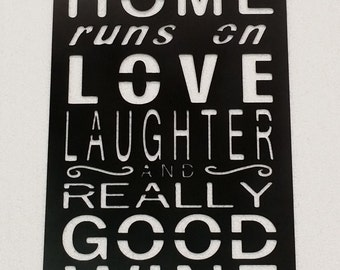 Home Runs on Love, Laughter and Wine Sign