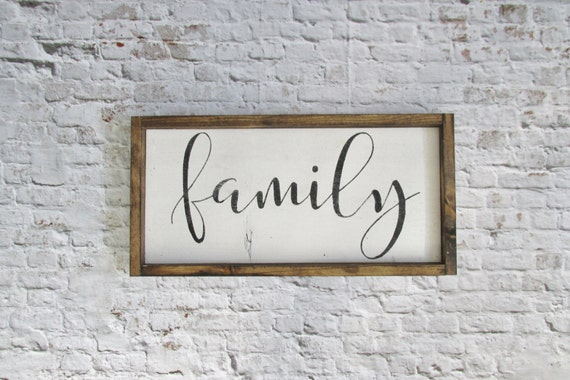 Family Wood Sign. Rustic Signs. Gallery Wall Decor. Farmhouse