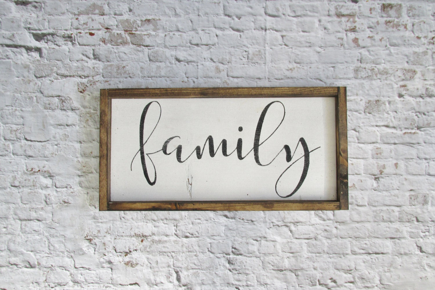Family wood sign rustic signs gallery wall decor farmhouse for Sign decoration