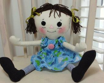 Gorgeous Handmade Cloth Rag Doll