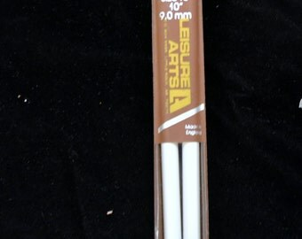 Knitting Needles Size 13 Plastic 10 inches Long Single Point Needles