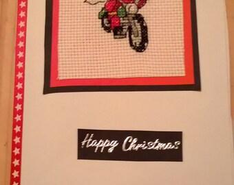 Santa on motorbike Christmas card