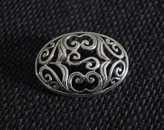 Vintage Sterling Silver Brooch - Vintage Brooch - Vintage Silver Brooch - Vintage Pin - Vintage Silver Pin Brooch
