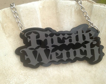 Pirate Wench Necklace Goth Renaissance Pinup Tattoo Acrylic