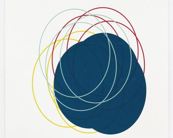 Ellipse - blue, green, yellow, Red
