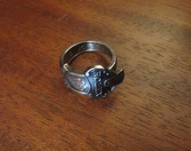 Spoon ring. Rolex Bucherer Lucerne Switzerland souvenir spoon ring. Custom Sizing Available. Novelty Ring.