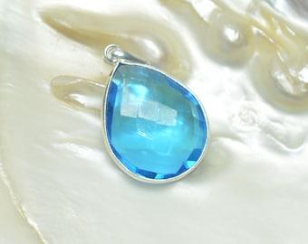 Blue quartz Silver Pendant
