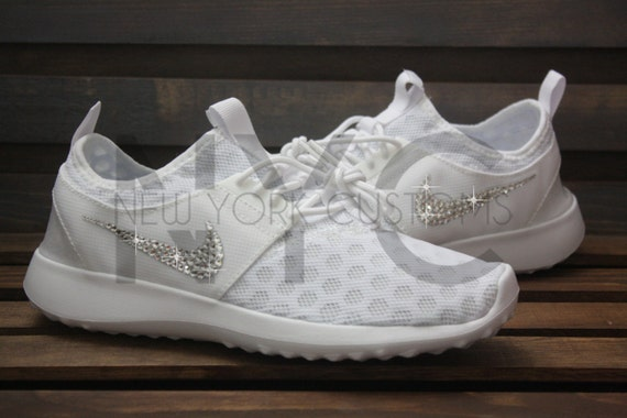 82ffd67ec8d85 70%OFF Blinged Nike Juvenate Shoes White Customized With by ...