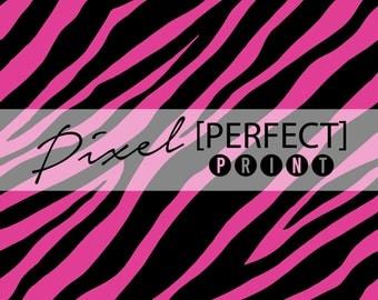 """5ft x 5ft """"Pink Zebra"""" Vinyl Backdrop // Vinyl Backdrops // Vinyl Photography Backdrop // Animal Print Backdrops (PP603)"""