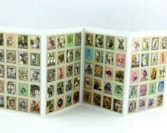 80 Vintage Alice in Wonderland Sticker Stamps