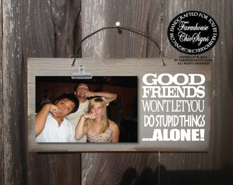gift for friend, best friend gift, friends picture frame, best friend, best friend birthday gift, friendship, friends frame, friends, 226