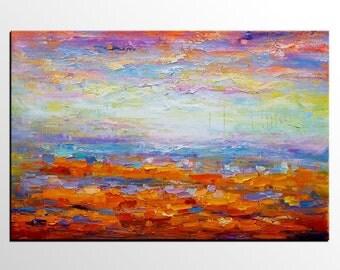 Canvas Art, Original Art, Large Art, Abstract Art, Abstract Landscape Painting, Canvas Painting, Abstract Painting, Wall Art, Landscape Art