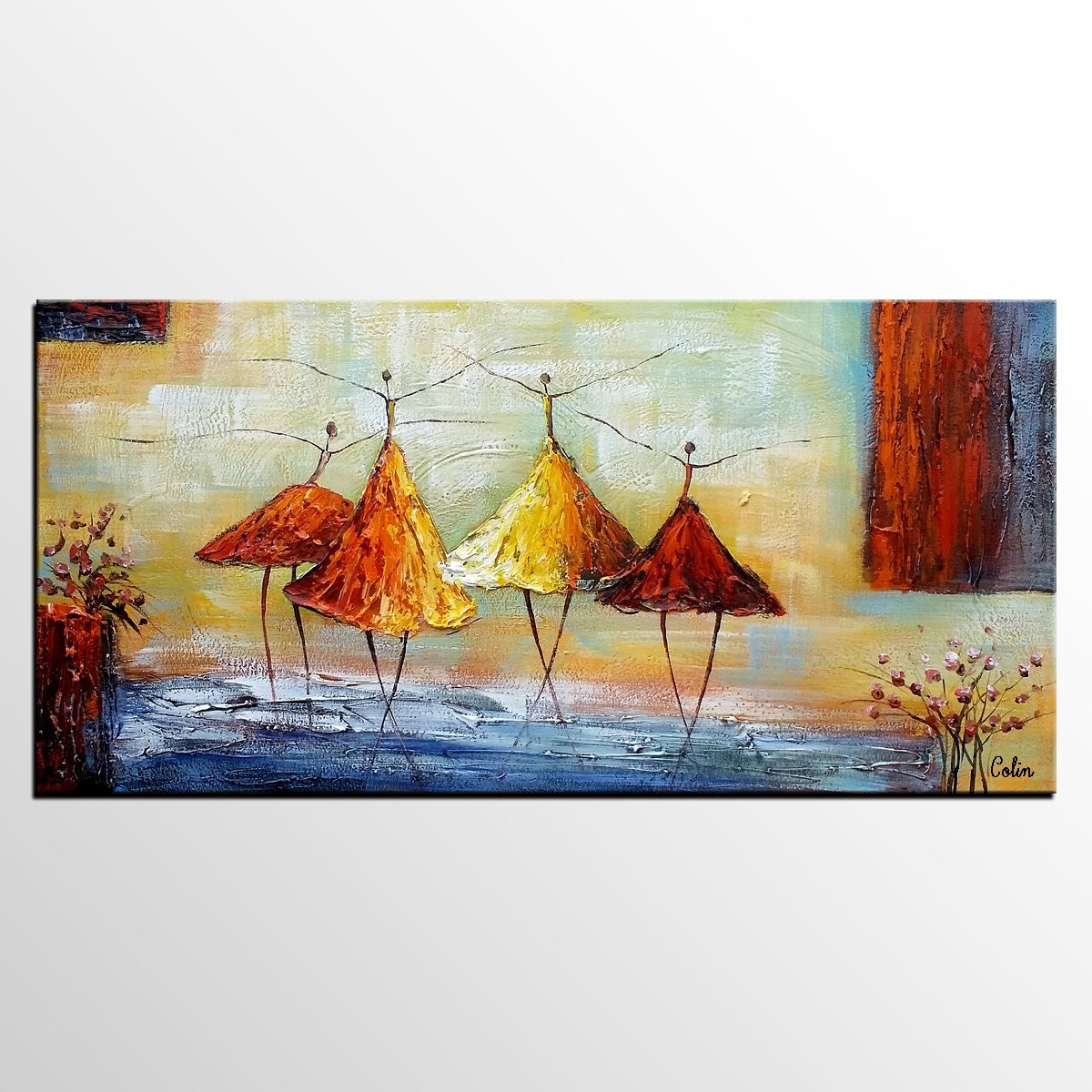 Abstract painting wall art art painting large art original for Modern art paintings for living room