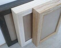 Photo frame 10x15 cm Rustic photo frame Picture frame 4X6 wood frame rustic frame wood craft CHUNKY FRAME barnwood frame RusticFrameShop