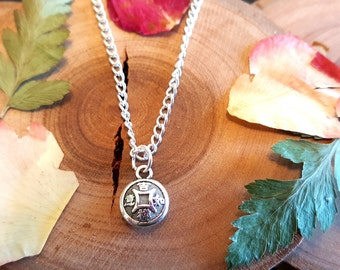 Good Luck Charm Necklace - Prosperity - Good Fortune - Simple Charm Necklace - Chinese good luck charm