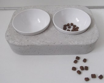 Concrete Futterbar feeding dish natural dish bar 38 cm