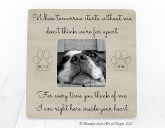 Dog Sympathy Gift, Personalized Pet Picture Frame, Dog Cat Pet Loss Sympathy, Dog Loss, Cat Loss, Dog Memorial Frame, Pet Memorial Frame