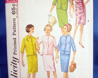Vintage Simplicity Sewing Pattern 4859 - Misses Jacket and Skirt