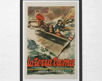 VINTAGE MOVIE POSTER - Classic Italian Movie Poster - Fine Art Poster, Home Decor Wall Art