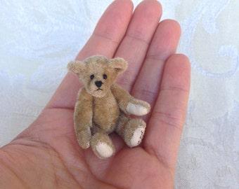 "Just US Miniature 2.5"" Miniature Teddy Bear"