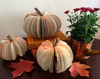 Upcycled Book Pumpkins