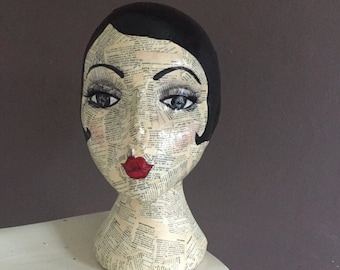 Mannequin head / Art Head // jewellery and hat stand // wig stand