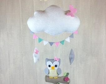 Baby mobile - owl mobile - tree mobile - nursery decor - cloud mobile - baby mobiles - owl nursery - butterfly mobile - star mobie