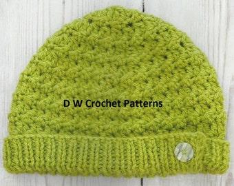 Chunky Crochet Ribbed Hat Crochet PDF Pattern