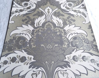 Wallpaper - Cole and Son  Sample Sheet  - 19 x 17  Albemarle Aldwych - Metallic Silver