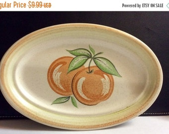 ON SALE Franciscan FRUIT Oval Butter Dish / Relish Tray Dinnerware Fruit Interior Excellent Condition