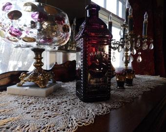 Purple Amethyst Berring's Apple Bitters Collectible Glass Bottle by Nuline, Purple Wheaton Glass, Philadelphia Bottle