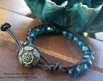 Bracelet BOHEMIAN WAVES ~ Original Bohemian glass beads