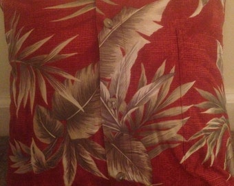 Up-cycled Men's Shirt Pillow Cover