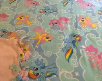 My Little Pony No Sew Fleece Blanket