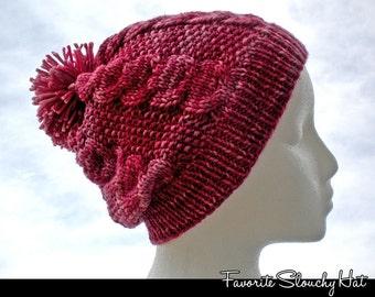 Favorite Slouchy Hat Knitting Pattern