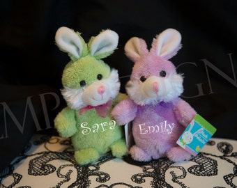 Easter bunny plush etsy easter bunny plush with name personalized bunny easter gifts easter basket gifts negle Images